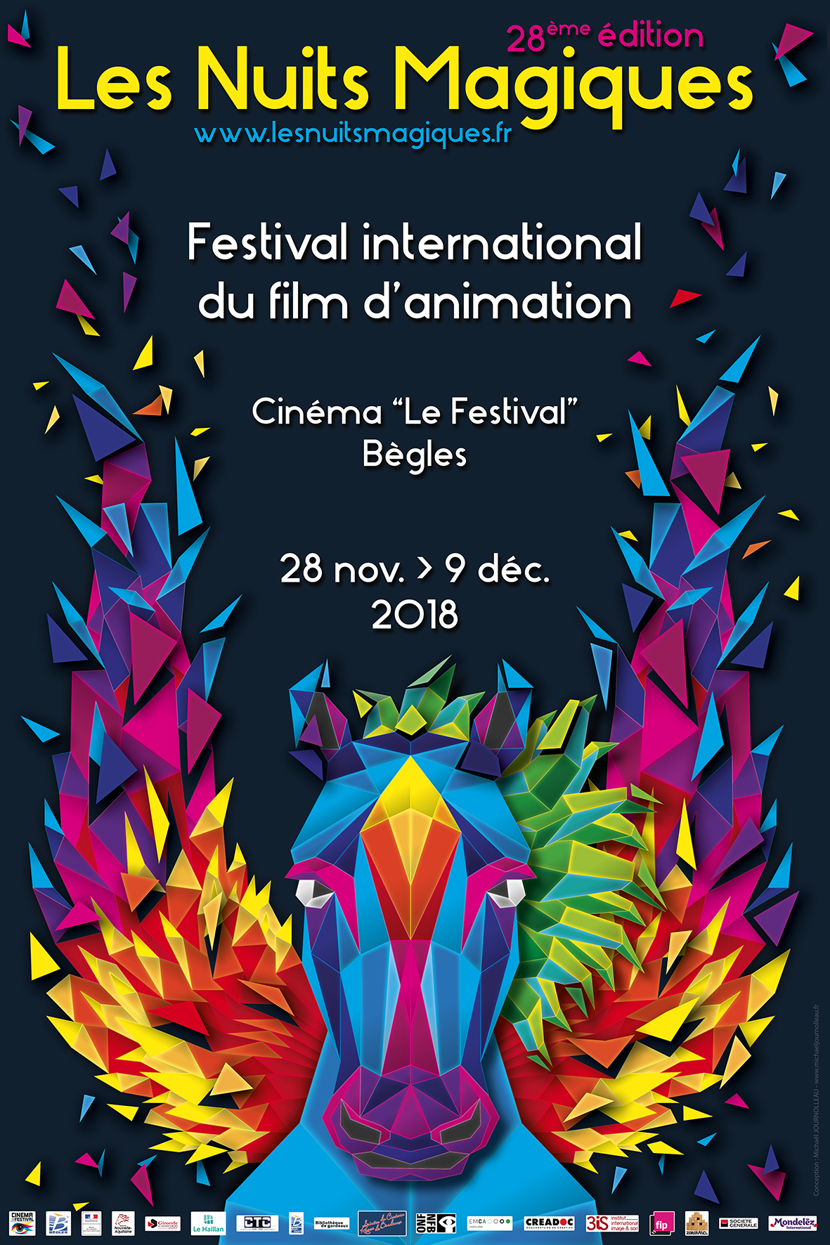 affiche du festival du film d'animation de Bordeaux
